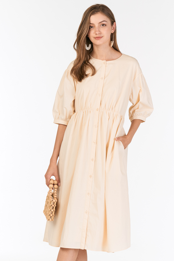 Marin Two Way Midi Dress in Cream