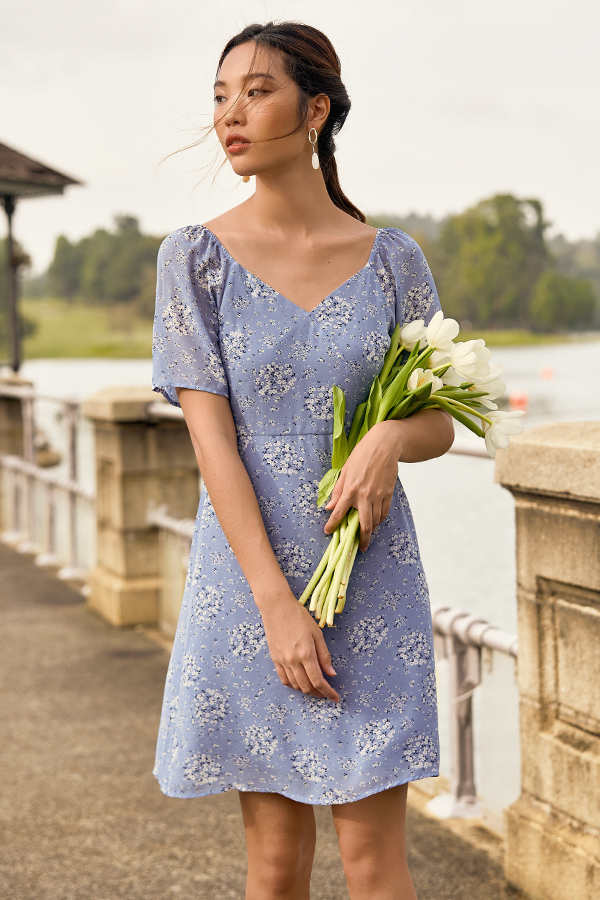 Cassa Dress in Cornflower Blue