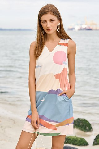 Thalia Two Way Dress in Sunset