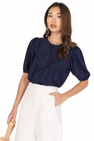 *Restock* Clare Top in Navy