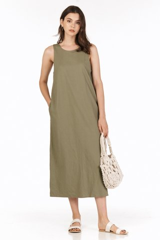 Harold Two Way Midi Dress in Olive