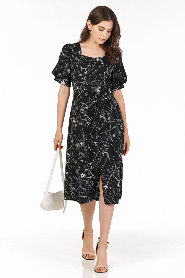 Kedai Midi Dress in Black