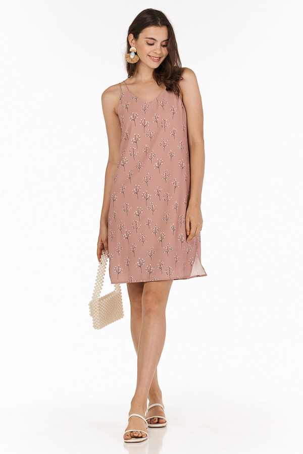 Adabelle Two Way Dress in Dusty Pink