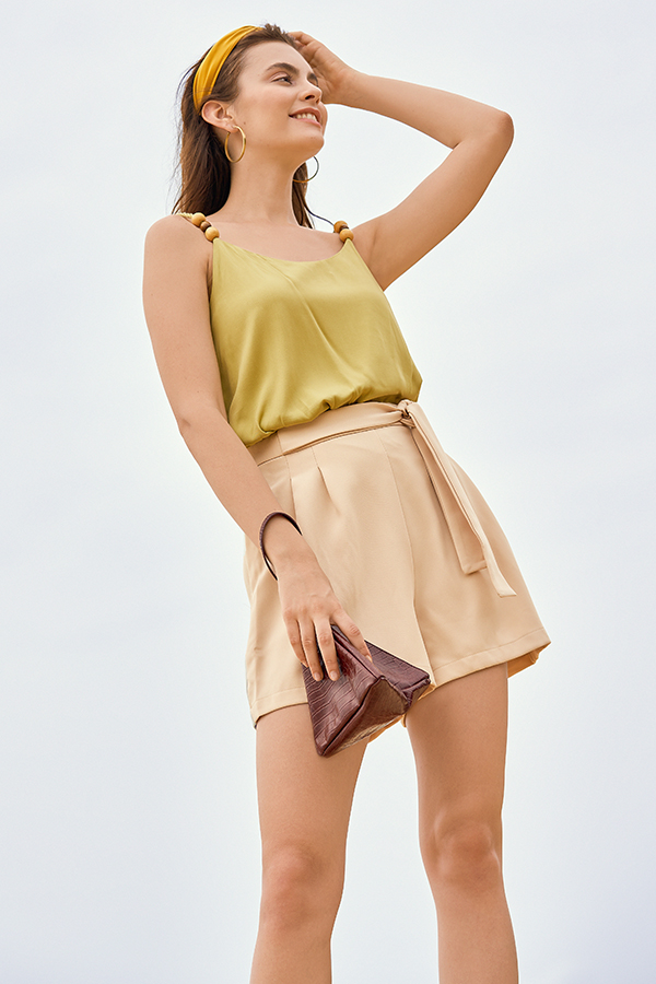 *Backorder* Orlaith Shorts in Khaki