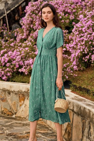 Adabelle Midi Dress in Fern Green