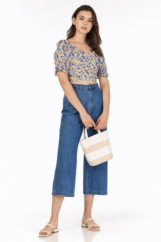 *Backorder* Deley Denim Culottes in Dark Wash