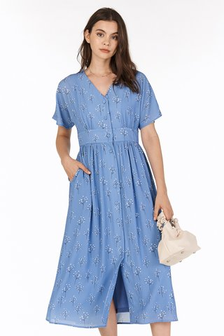 Adabelle Midi Dress in Cornflower Blue