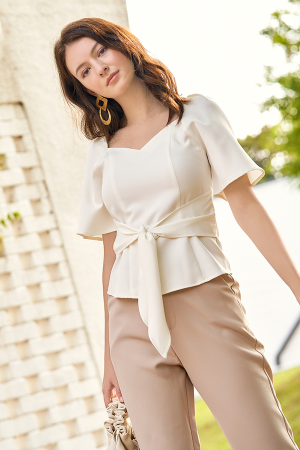 Gisela Blouse in White