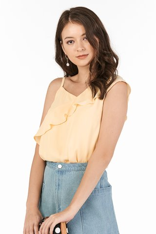 Calora Ruffled Top in Golden Poppy