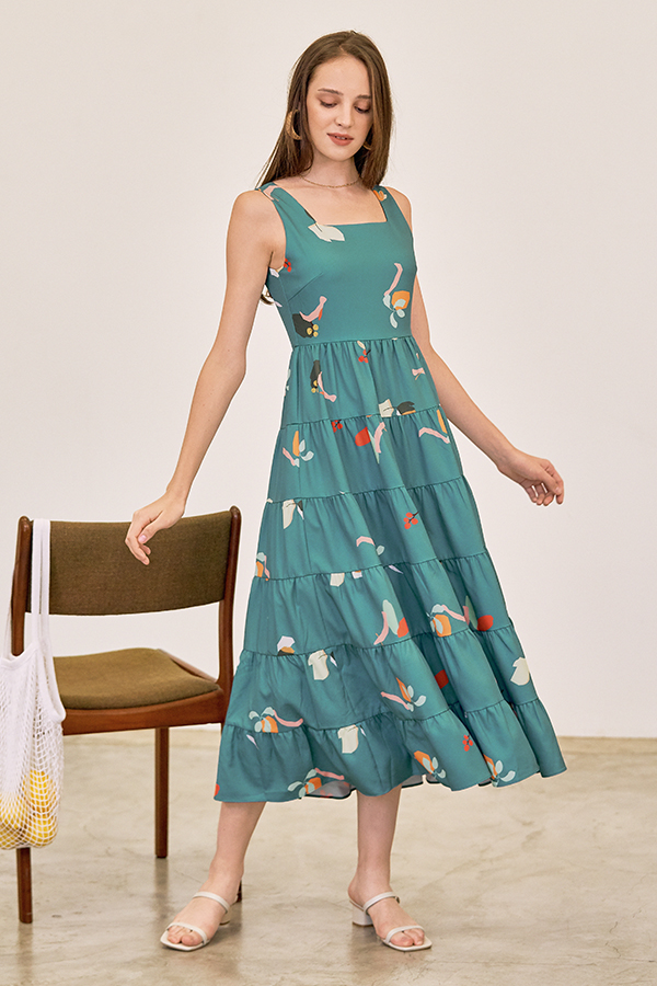 Kolorit Maxi Dress in Teal