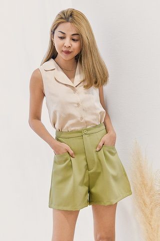 Oaks Linen Top in Cream