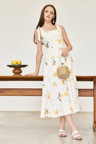 Kolorit Maxi Dress in Ivory