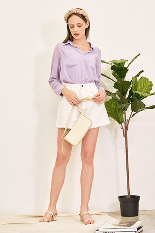 Caden Slouchy Shirt in Lilac