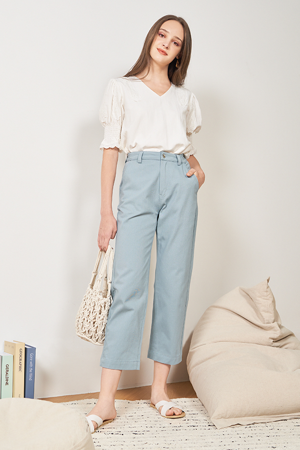 Marnie Pants in Dusty Blue