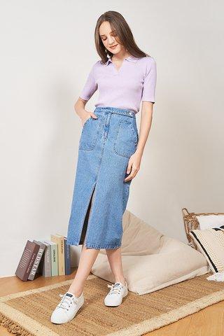 Adelie Denim Midi Skirt