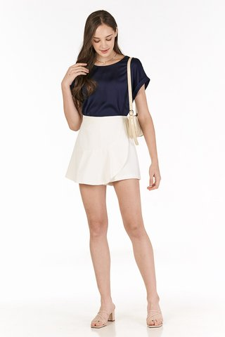 *Backorder* Jaylee Two Way Sleeved Top in Navy