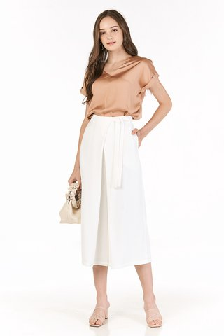 *Backorder* Jaylee Two Way Sleeved Top in Sandstone