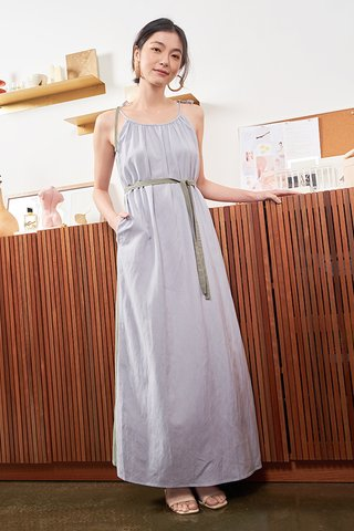 Haisley Two Way Colourblock Maxi Dress in Sage & Ash Lilac