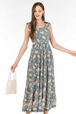 Ferne Maxi Dress in Dusty Blue