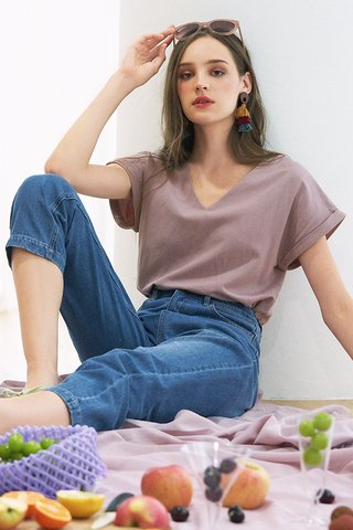 *Backorder* Harvie Two Way Linen Top in Lavender