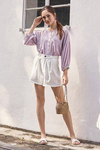 *Backorder* Keyse Crochet Top in Lilac