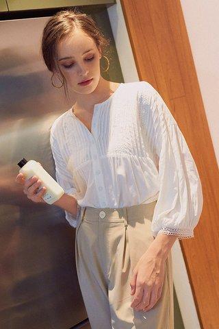 *Backorder* Keyse Crochet Top in White