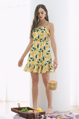 Lemons Ruffled Dress