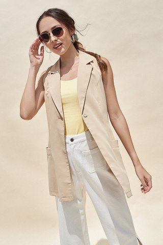 Madalyn Vest in Khaki