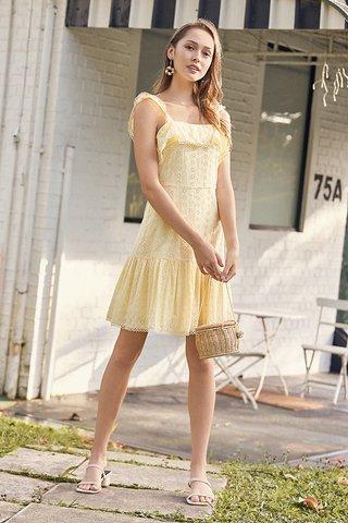 Merlyn Eyelet Dress in Daffodil