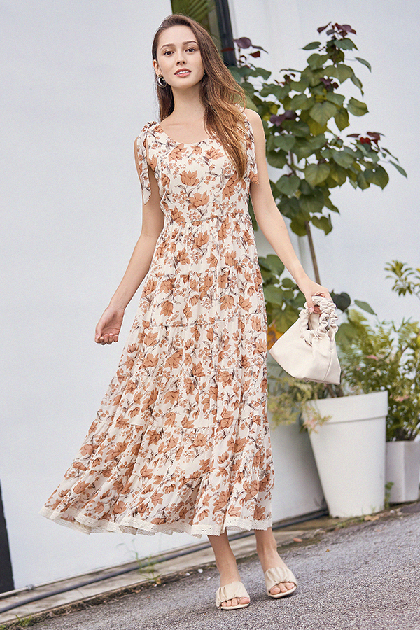 Ferne Maxi Dress in Cream