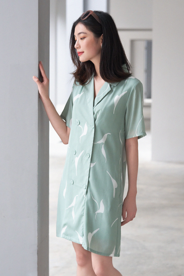 Grayson Dress in Seafoam