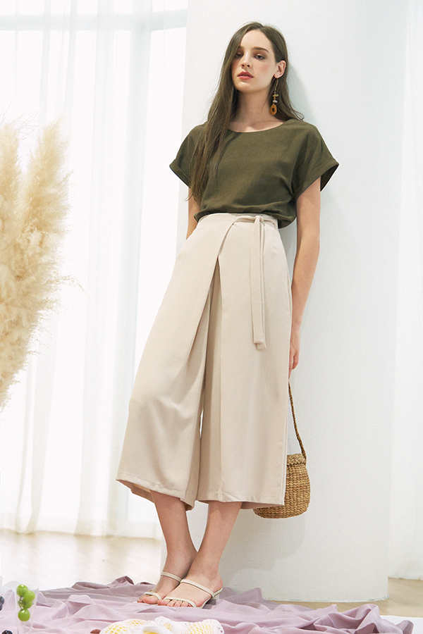 Lowell Culottes in Khaki