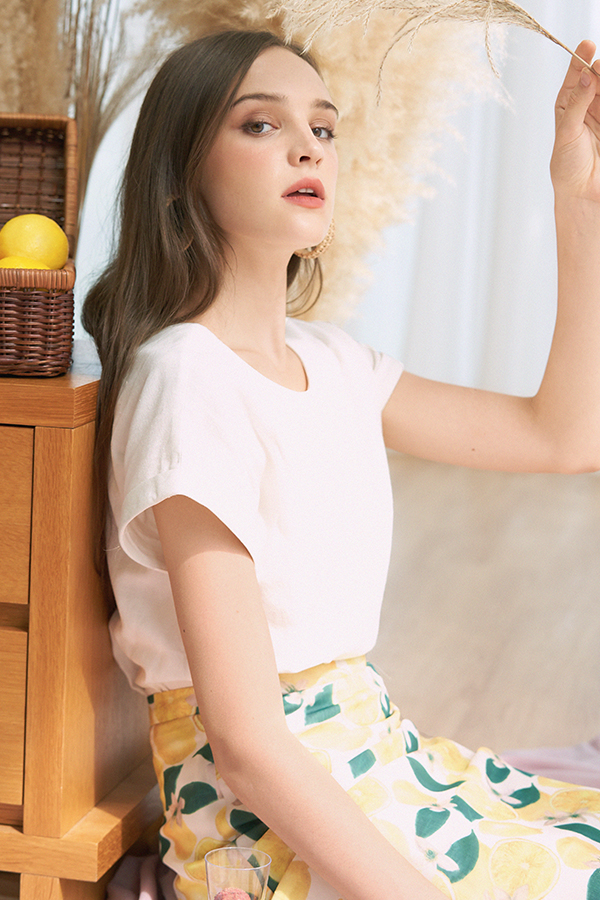 *Backorder* Harvie Two Way Linen Top in White