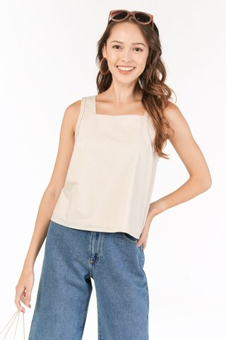 Rysta Braided Top in Moonbeam