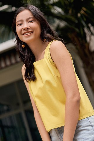 Rysta Braided Top in Sunshine