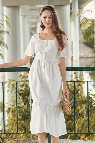 Casita Midi Dress in White