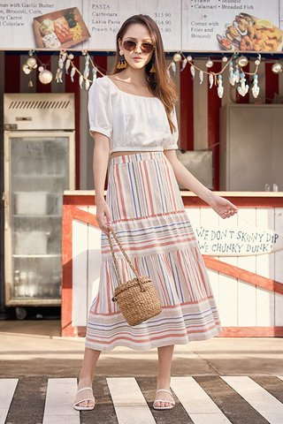 Edden Striped Maxi Skirt
