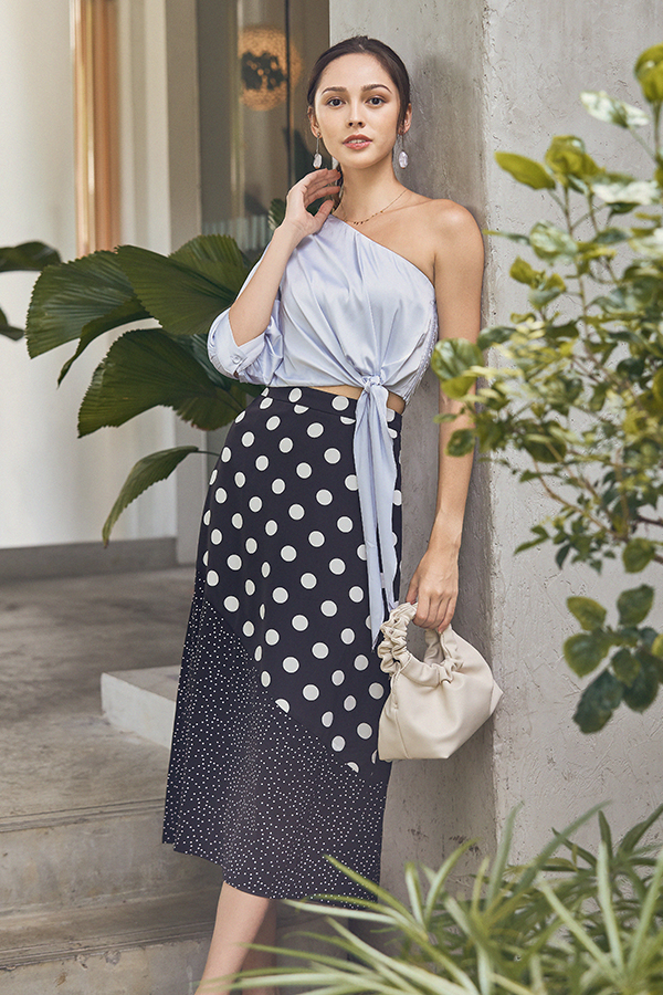 Hira Dotted Maxi Skirt