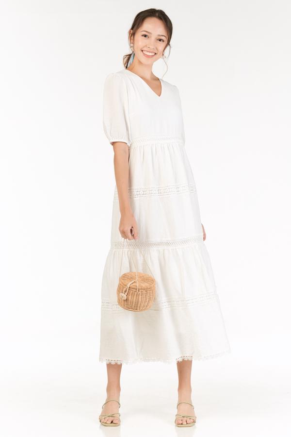 Elinde Maxi Dress in White