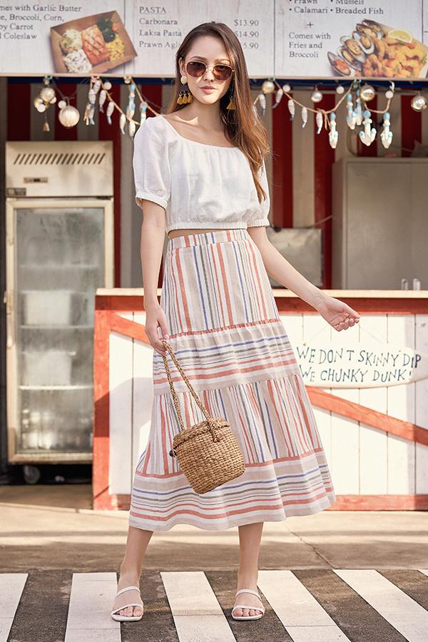 Edden Striped Maxi Skirt
