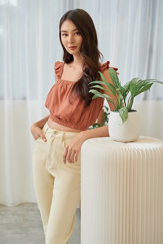 Dyan Denim Jeans in Pale Yellow