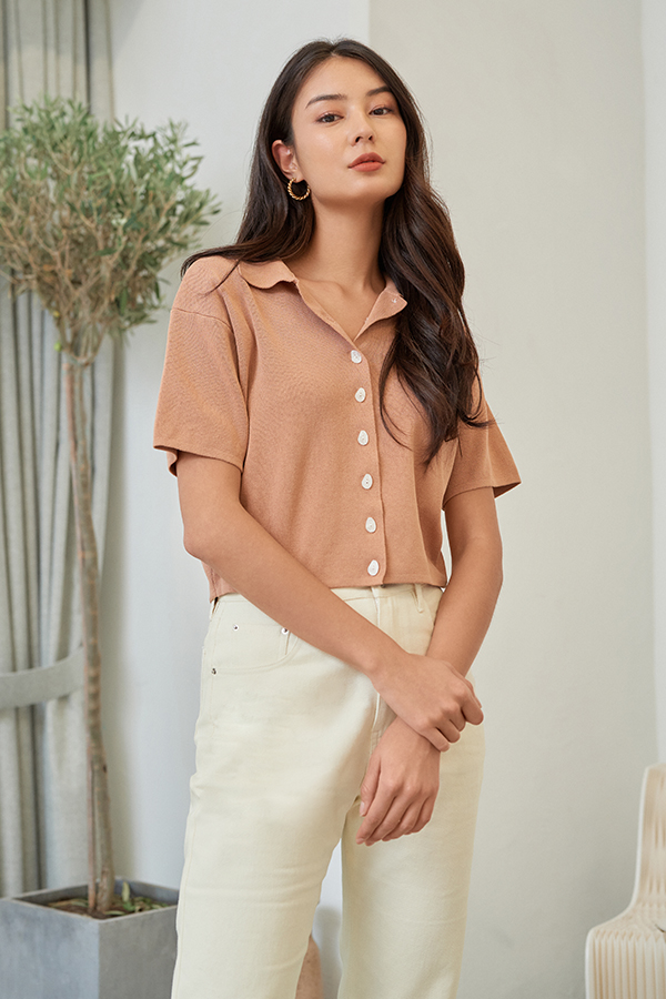 *Restock* Asher Box Top in Maple