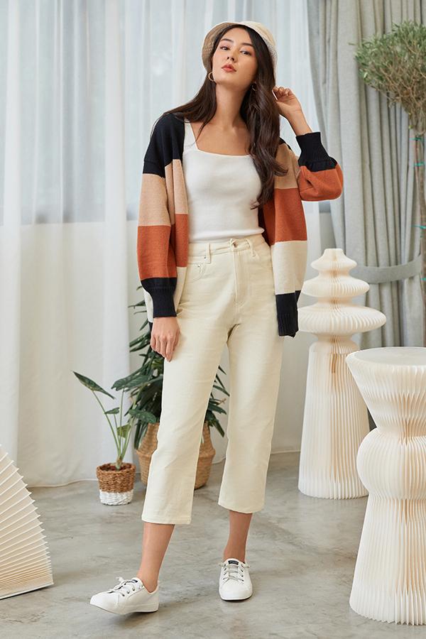 Dyan Denim Jeans in Ivory