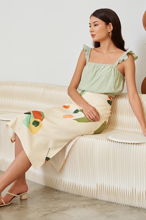 *Backorder* Ordell Midi Skirt in Cream