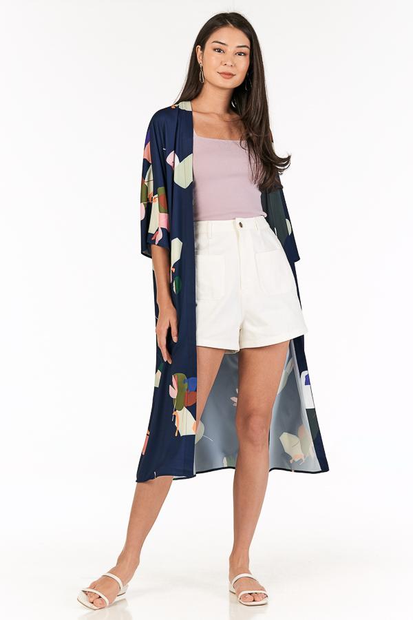 Ordell Longline Kimono in Navy
