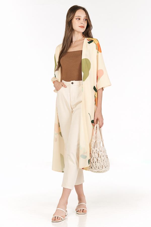 Ordell Longline Kimono in Cream