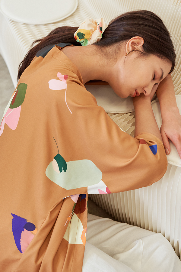 Ordell Longline Kimono in Caramel