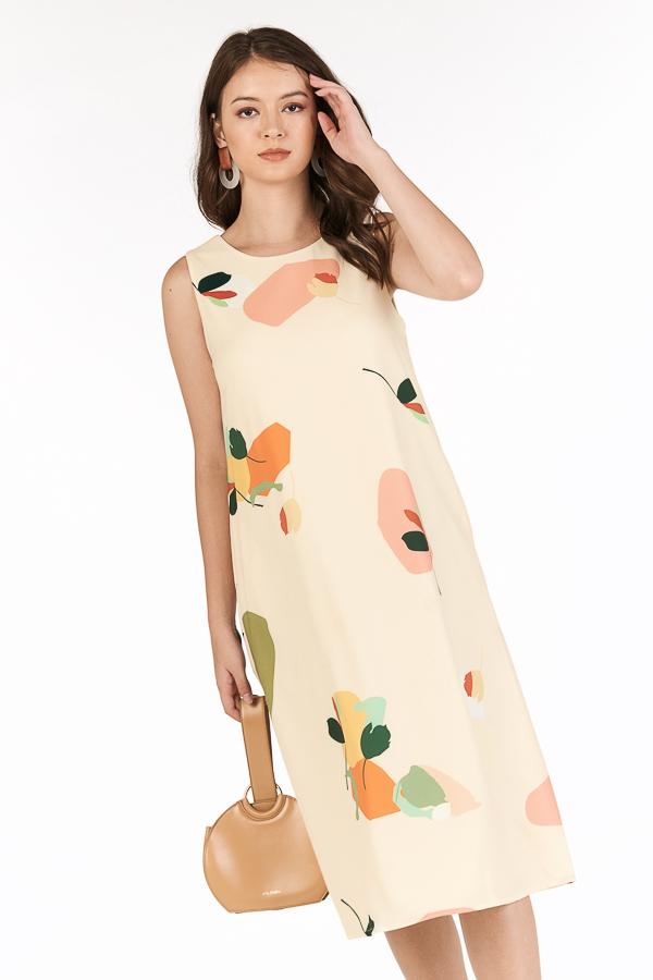 Ordell Two Way Midi Dress in Cream