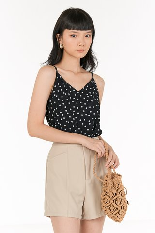 Cedar Dotted Two Way Top in Black