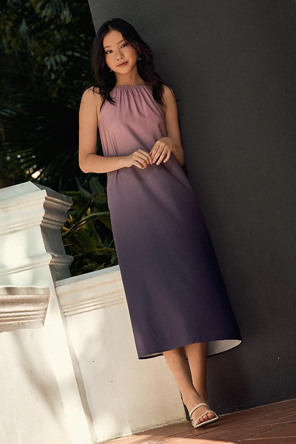 Olivine Midi Dress in Pink